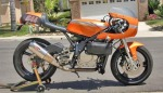 Honda Rex Harris, cafe racer, monocilíndrica, naranja