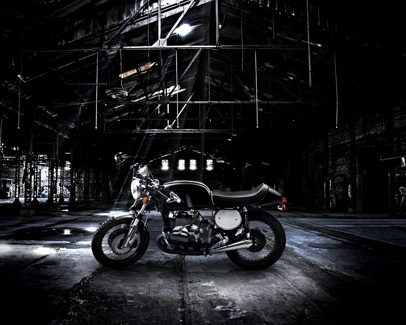 BMW, cafe racer, fotografía